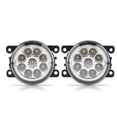 โปรโมชั่น 9 Led Car Round Front Fog Lamp Drl Daytime Running Light For Ford Focus Lens White Intl ถูก