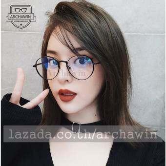 แว่นกรองแสง แว่นตากรองแสง แฟชั่น เกาหลี รุ่น SHIDOMASE -  Black (กรองแสงคอม กรองแสงมือถือ ถนอมสายตา)-