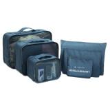 A Shop กระเป๋าจัดระเบียบเสื้อผ้าสำหรับเดินทาง ไซส์ใหญ่ Navy Blue เซ็ท 6 ชิ้น ใน กรุงเทพมหานคร