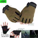ซื้อ Abc ถุงมือครึ่งนิ้ว มอเตอร์ไซค์ ยิงปืน ทหาร ยุทธศาสตร์ Tactical Gloves กิจกรรมกลางแจ้ง กันลื่น ยืดหยุ่นสูง ระบายอากาศดี ฟรีไซส์ ใช้ได้ทั้งชายและหญิง สีดำ สีเขียว สีเขียวลายพราง ถูก ใน กรุงเทพมหานคร
