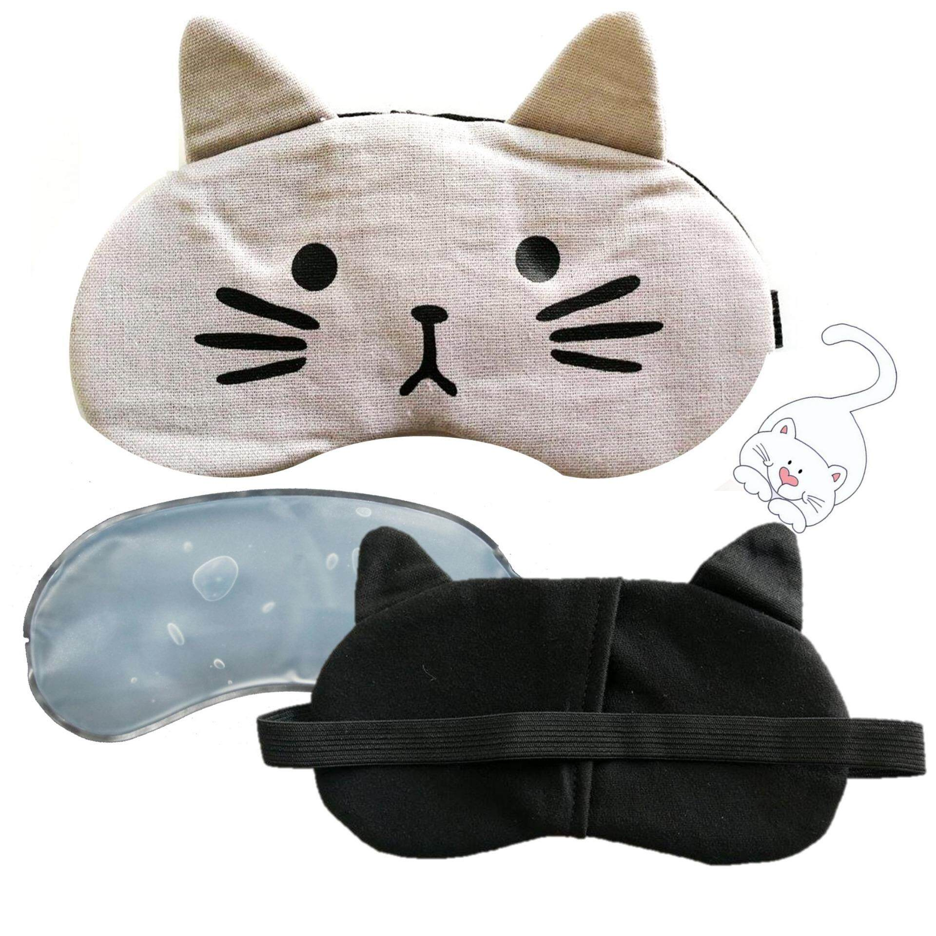 a*bloom ผ้าปิดตา พร้อมเจล Eye Mask with Soothing Gel รุ่น Little Cat