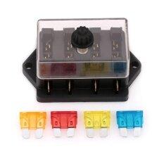 โปรโมชั่น Abs Car Multipath Way Fuse Box 4Pcs Fuse For Hs 04 Refitted Vehicle Parts Intl จีน
