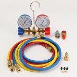ส่วนลด A C Manifold Brass Gauge Set R134A R12 R22 R502 Acme Hvac Ac Freon Auto 90Cm T Hose Unbranded Generic