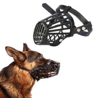 Adjustable No Bark Bite Nylon Basket Muzzle for Pet Dog Size 1 to 7 Grooming - intl