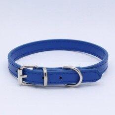 หนัง Pu สามารถปรับได้ปลอกคอสุนัขสำหรับแมวลูกสุนัขคอสุนัขสายคล้องคอสี: สีน้ำเงินเข้มขนาด: สีน้ำเงินเข้ม By Hossen.