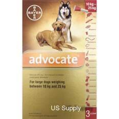 โปรโมชั่น Advocate สุนัข 10 25 กก 3 หลอด ยาหยดกำจัดหมัด ไรหู ไรขี้เรื้อน กันพยาธิหัวใจ พยาธิตัวกลม Exp 06 2019 ส่งฟรี Kerry Advocate ใหม่ล่าสุด