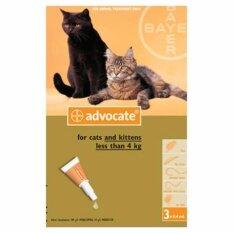 Advocate แมวตัวเล็กและลูกแมวน้ำหนักน้อยกว่าหรือเท่ากับ 4 กก. exp.2019