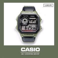 ขาย ซื้อ นาฬิกาข้อมือ Casio รุ่น Ae 1200Whb 3Bvdf นาฬิกาข้อมือผู้ชาย สายผ้า Green
