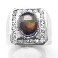 แหวนพลอยสตาร์ดำ Px300 83R267 ถูก
