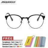 ซื้อ แว่นตาแฟชั่นเรโทรวินเทจผู้ชายแว่นตากลมสีดำกรอบแว่นตาธรรมดาสำหรับคนที่สายตาสั้นสายตาแว่นตากรอบแว่นตา Oculos Femininos Gafas ถูก