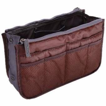 ซื้อที่ไหน Ai Home ที่จัดระเบียบกระเป๋าถือสำหรับเดินทางของผู้หญิง (สีกาแฟ)