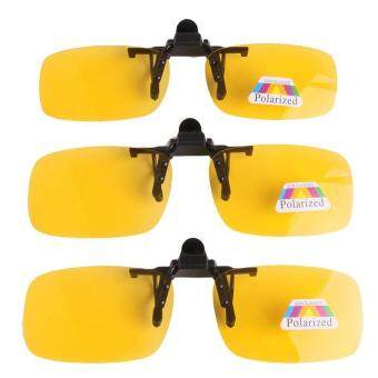 Ai Home Night Polarized Flip Up Sunglasses Clip Eyeglass Unisex Clip Eyewear Yellow Myopia Glasses Sunglass Goggle Product For Fishing Driving Traveling S จีน