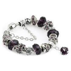ขาย Ai Home Women G*rl Crystal Glass Beads Chain Bangle Bracelet M Black Intl