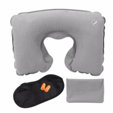 ราคา Airline Travel Kit 3 In 1 Set U Shape Pillow Outdoor Inflatable Travel Pillow Tourist Gems Intl ออนไลน์ จีน