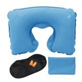 ซื้อ Airline Travel Kit 3 In 1 Set U Shape Pillow Outdoor Inflatable Travel Pillow Tourist Gems Intl ถูก จีน