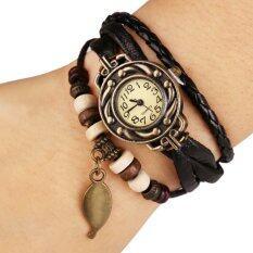 ซื้อ Aliz นาฬิกาข้อมือหนังแฟชั่นวินเทจผู้หญิง สีน้ำตาล ใน Thailand