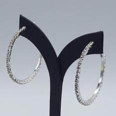 โปรโมชั่น Allure ต่างหู ตุ้มหูห่วง ประดับเพชรสวิสฯ Diamond Hoop Earring ใส่แล้วสวย ใน กรุงเทพมหานคร