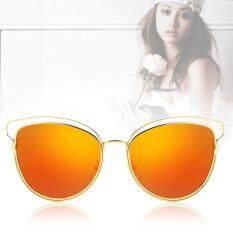 Allwin Eyewear Women Retro Vintage Shades Fashion Frame Cat Eye Sunglasses New Red เป็นต้นฉบับ