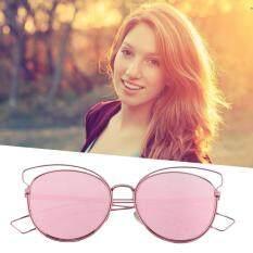 ซื้อ Allwin Eyewear Women Retro Vintage Shades Fashion Frame Cat Eye Sunglasses New Pink ออนไลน์ ถูก