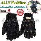 ซื้อ Ally Probiker ถุงมือมอเตอร์ไซค์ ถุงมือเต็มนิ้ว สีดำ Probiker ออนไลน์