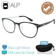 ขาย Alp Emi Computer Glasses แว่นคอมพิวเตอร์ กรองแสงสีฟ้า Blue Light Block กันรังสี Uv Uva Uvb กรอบแว่นตา แว่นสายตา แว่นเลนส์ใส Square Style รุ่น Alp E030 Bks Gy Emi Black Clear ออนไลน์ ใน ไทย