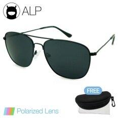 ราคา Alp Polarized Sunglasses แว่นกันแดด Aviator Style รุ่น Alp 0040 Bkt Bkp Black Black ราคาถูกที่สุด