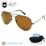 ทบทวน Alp Polarized Sunglasses แว่นกันแดด Aviator Style รุ่น Alp 3025 Brt Brp Brown Brown Alp