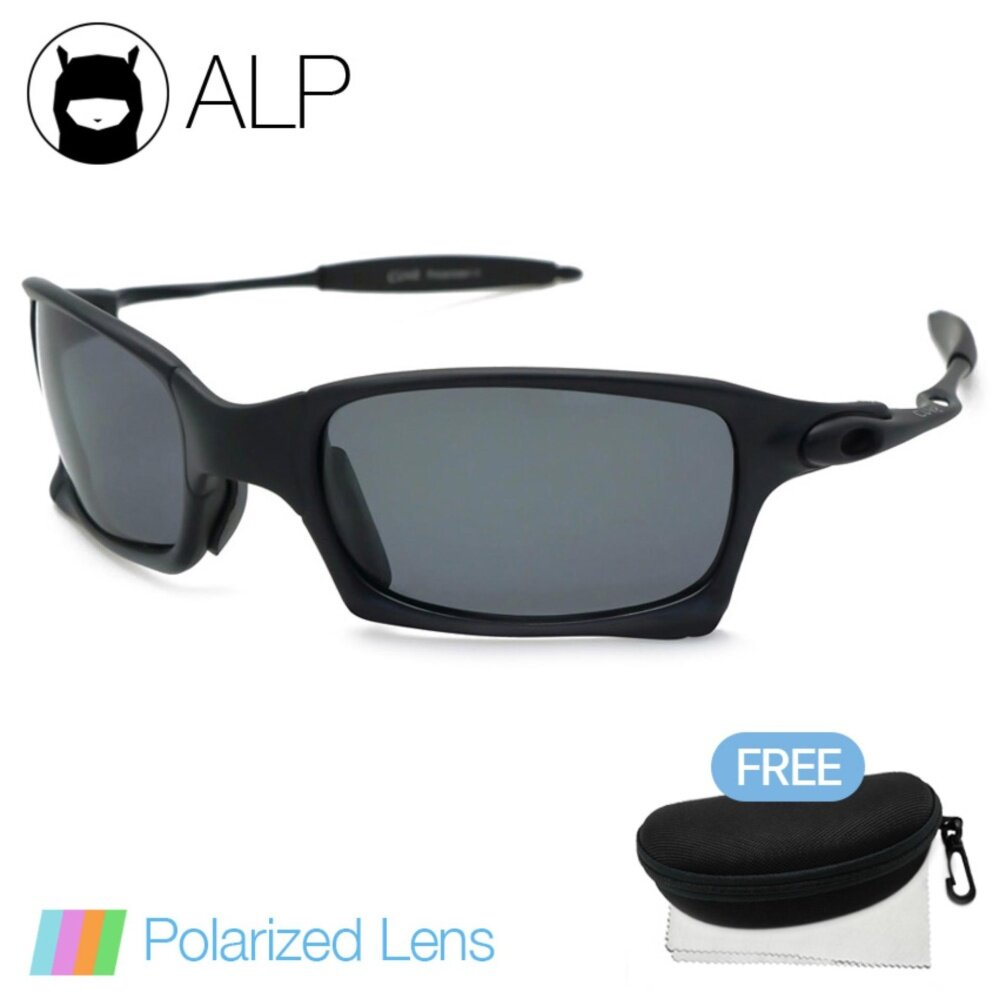 ALP Polarized Sunglasses แว่นกันแดด Sport Style รุ่น ALP-0072-BKS-BKP (Black/Black)