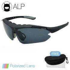 ขาย ซื้อ Alp Polarized Sunglasses แว่นกันแดด Sport Style รุ่น Alp 0074 Bks Bkp Black Black ไทย