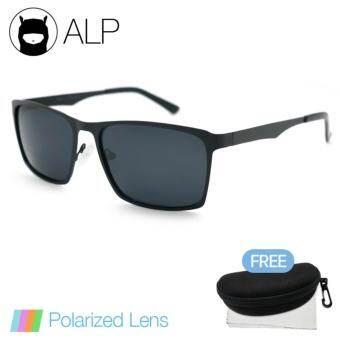 a0ba7010130 ราคา ALP Polarized Sunglasses แว่นกันแดด Square Style รุ่น ALP-0042-BKT-BKP  (Black Black)