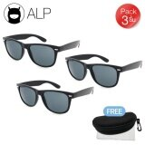 ขาย Alp ขายส่ง Sunglasses แว่นกันแดด Wayfarer Style รุ่น Alp 0022 Bkt Bk Black Black X 3 ชิ้น ถูก