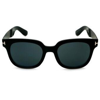 13d1d3836d4 ALP Sunglasses แว่นกันแดด Wayfarer Style รุ่น ALP-0056-BKS-BK (Black Black)