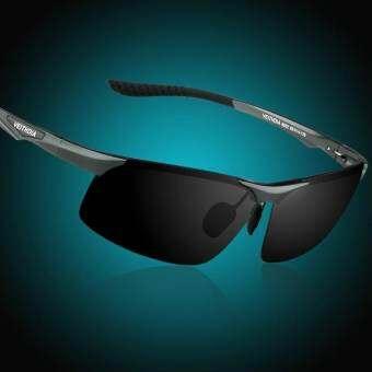 แว่นตากันแดดอลูมิเนียมแมกนีเซียมผู้ชายแว่นตากันแดดโพลาไรซ์การมองเห็นได้ในเวลากลางคืนชายแว่นกันแดด (ส-