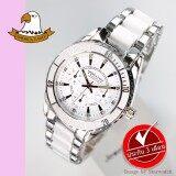 ราคา America Eagle นาฬิกาข้อมือผู้หญิง สายสแตนเลส รุ่น Ae004L Silver White America Eagle กรุงเทพมหานคร