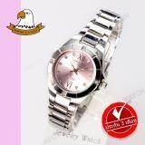 โปรโมชั่น America Eagle นาฬิกาข้อมือผู้หญิง สายสแตนเลส รุ่น Ae012L Silver Pink ถูก