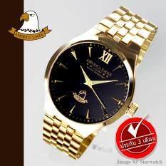 ราคา ราคาถูกที่สุด America Eagle นาฬิกาข้อมือสุภาพบุรุษ สายสแตนเลส รุ่น Ae021G Gold ฺBlack