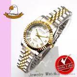 ราคา America Eagle นาฬิกาข้อมือผู้หญิง สายสแตนเลส รุ่น Ae022L Silvergold White เป็นต้นฉบับ