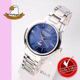 ส่วนลด America Eagle นาฬิกาข้อมือสุภาพสตรี สายสแตนเลส รุ่น Ae071L Silver Blue America Eagle