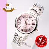 โปรโมชั่น America Eagle นาฬิกาข้อมือสุภาพสตรี สายสแตนเลส รุ่น Ae071L Silver Pink America Eagle