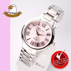 ราคา America Eagle นาฬิกาข้อมือสุภาพสตรี สายสแตนเลส รุ่น Ae071L Silver Pink America Eagle เป็นต้นฉบับ