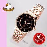 ซื้อ America Eagle นาฬิกาข้อมือผู้หญิง สายสแตนเลส รุ่น Ae078L Pink Gold Black America Eagle