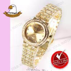 ส่วนลด สินค้า America Eagle นาฬิกาข้อมือผู้หญิง สายสแตนเลส รุ่น Ae086L Gold ฺgold