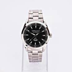 ซื้อ America Eagle นาฬิกาข้อมือผู้ชาย หน้าปัดสีดำขอบเงินสายStainlessรุ่น Lucky Ae023G ถูก ไทย