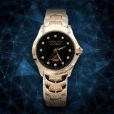 ราคา America Eagle นาฬิกาข้อมือผู้หญิงStainlessสีพิงค์โกลด์หน้าดำ รุ่นLucky Ae002L เป็นต้นฉบับ