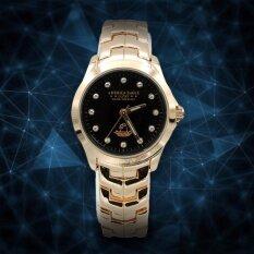 America Eagle นาฬิกาข้อมือผู้หญิงStainlessสีพิงค์โกลด์หน้าดำ รุ่นLucky Ae002L America Eagle ถูก ใน ไทย