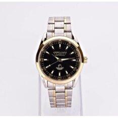 ส่วนลด America Eagle นาฬิกาข้อมือผู้หญิง หน้าปัดสีดำขอบทองสายStainlessรุ่น Lucky Ae023G America Eagle ใน ไทย