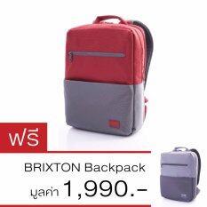 ขาย American Touristerกระเป๋าเป้ Brixton สี Grey Red 1Get1Free American Tourister