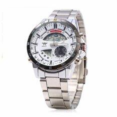 ซื้อ Amstแบรนด์หรูดิจิตอลกีฬานาฬิกาผู้ชายควอตซ์ทหารจอแอลซีดีนาฬิกาชั่วโมงชายเต็มเหล็กนาฬิกาข้อมือRelogio Masculino 2017 Amst เป็นต้นฉบับ