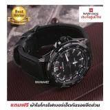 ขาย รับประกันศูนย์ไทย นาฬิกาผู้ชาย เครื่องญี่ปุ่น สายหนังแท้ Naviforce Nvfฺb9050 Professional Waterproof Thailand