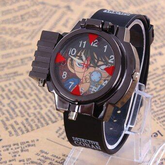 Anime แก้วนักสืบโคนันอินฟราเรดสีแดงแสงเลเซอร์คล้ายคลึงนาฬิกาข้อมือเด็ก ()
